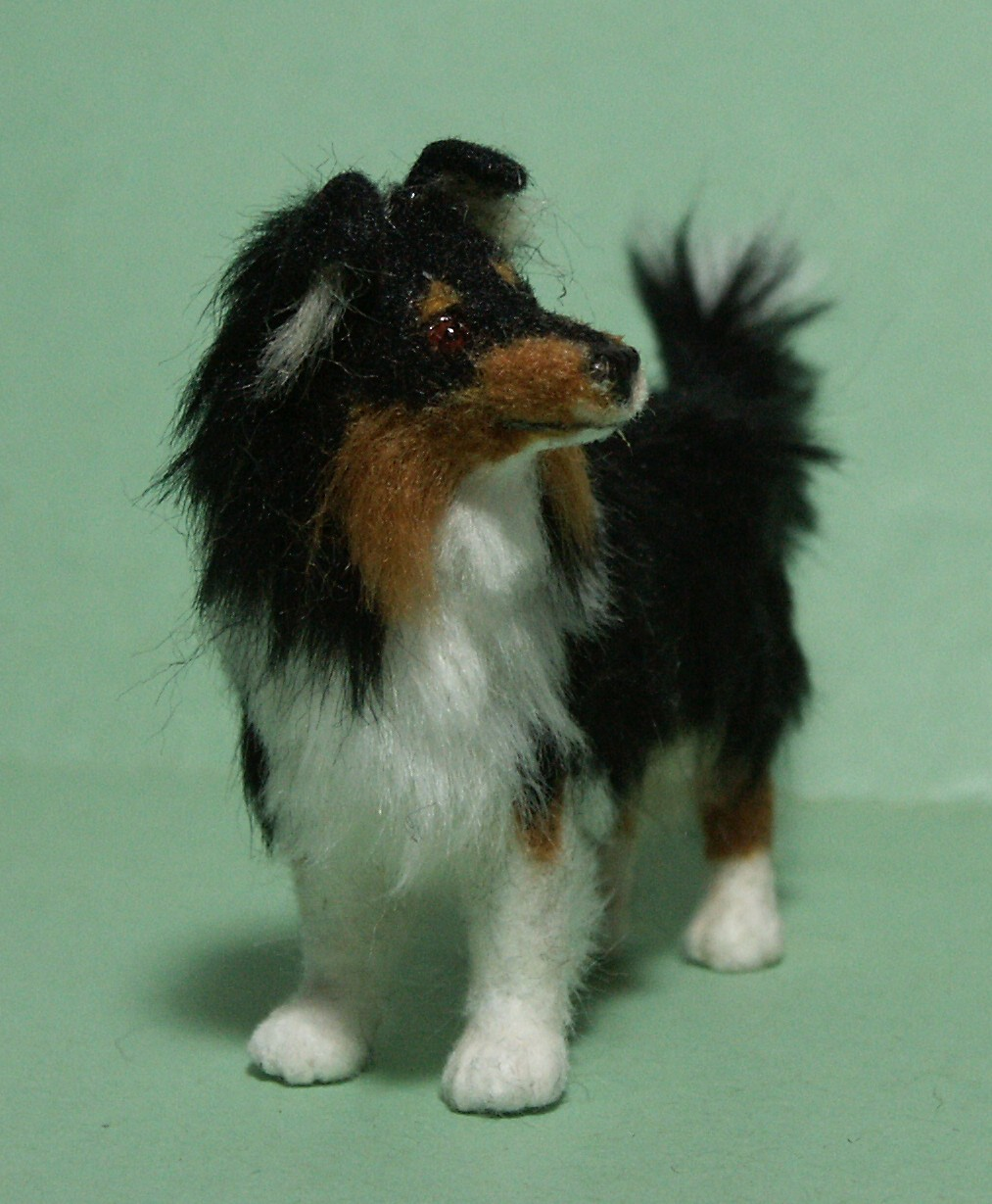 Rough collie for the dolls house