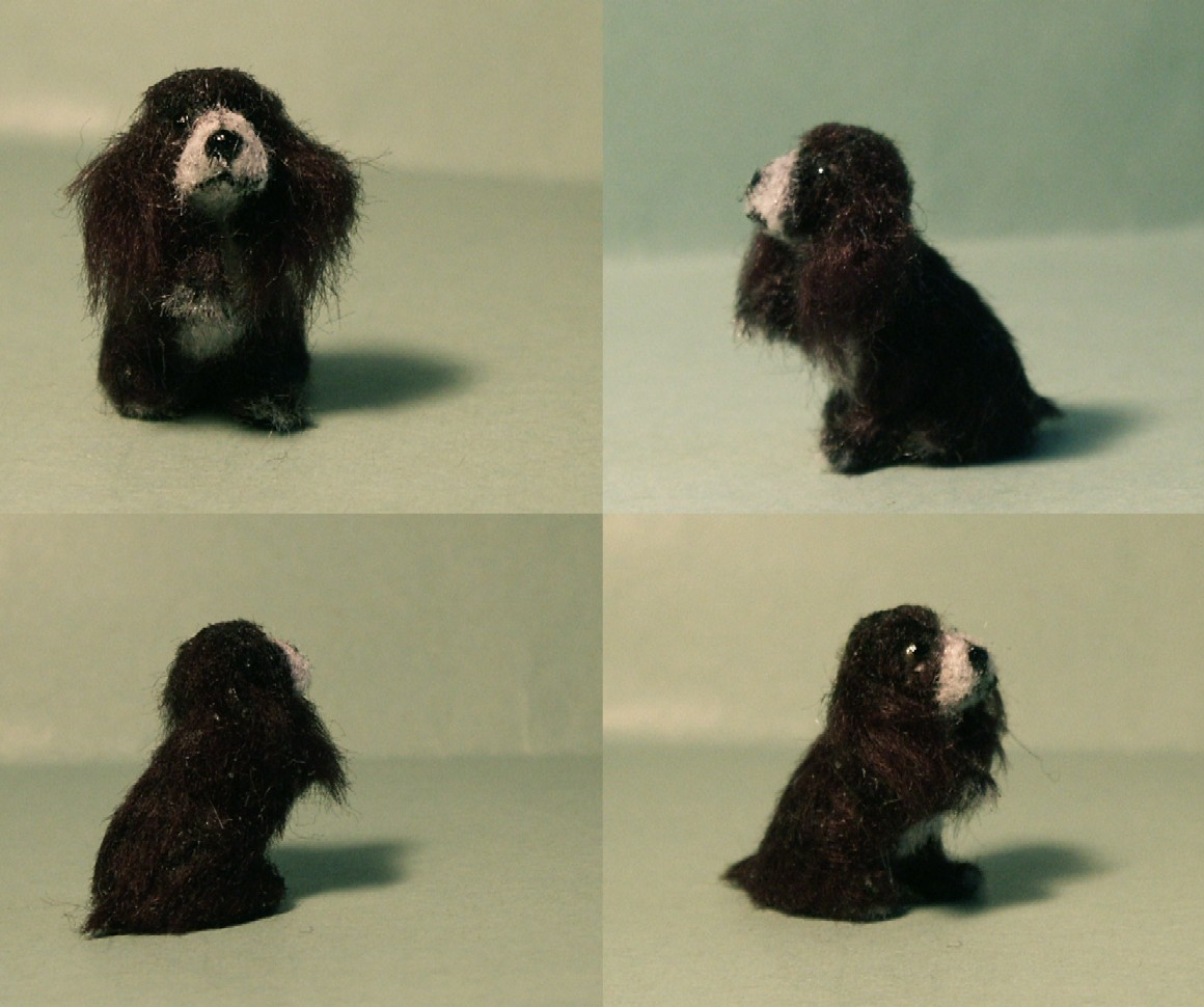 24th scale cocker spaniel for the dolls house