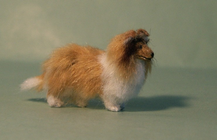 24th scale sheltie for the dolls house