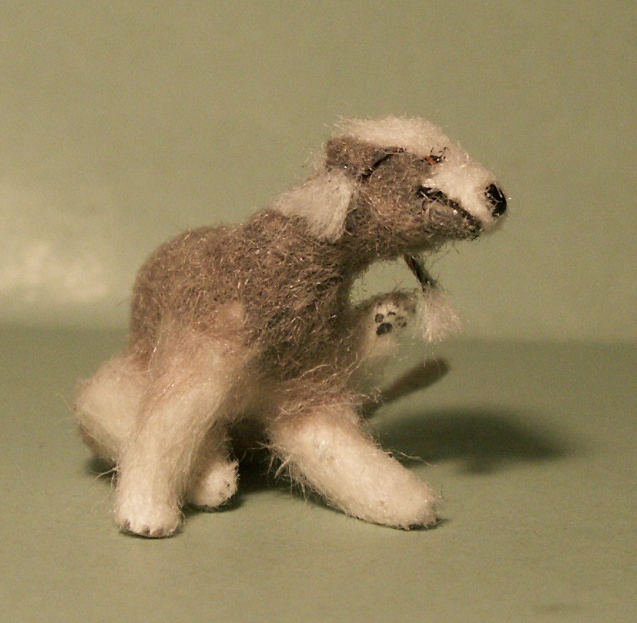Bedlington Terrier for the dolls house