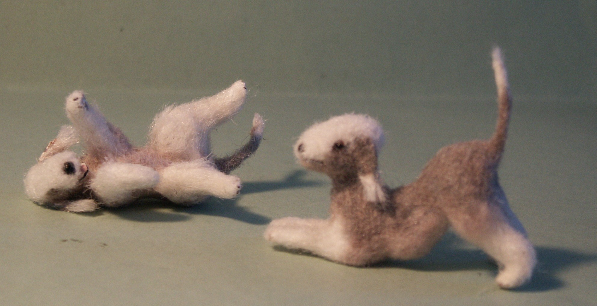 Bedlington Terriers for the dolls house