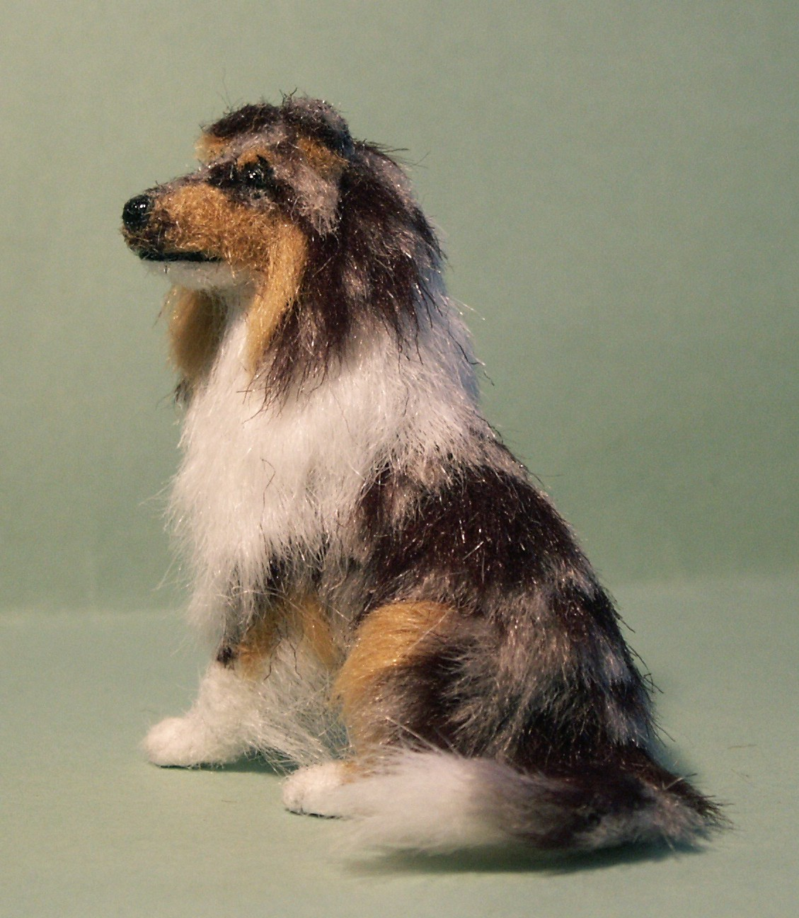 Blue merle Rough collie for the dolls house