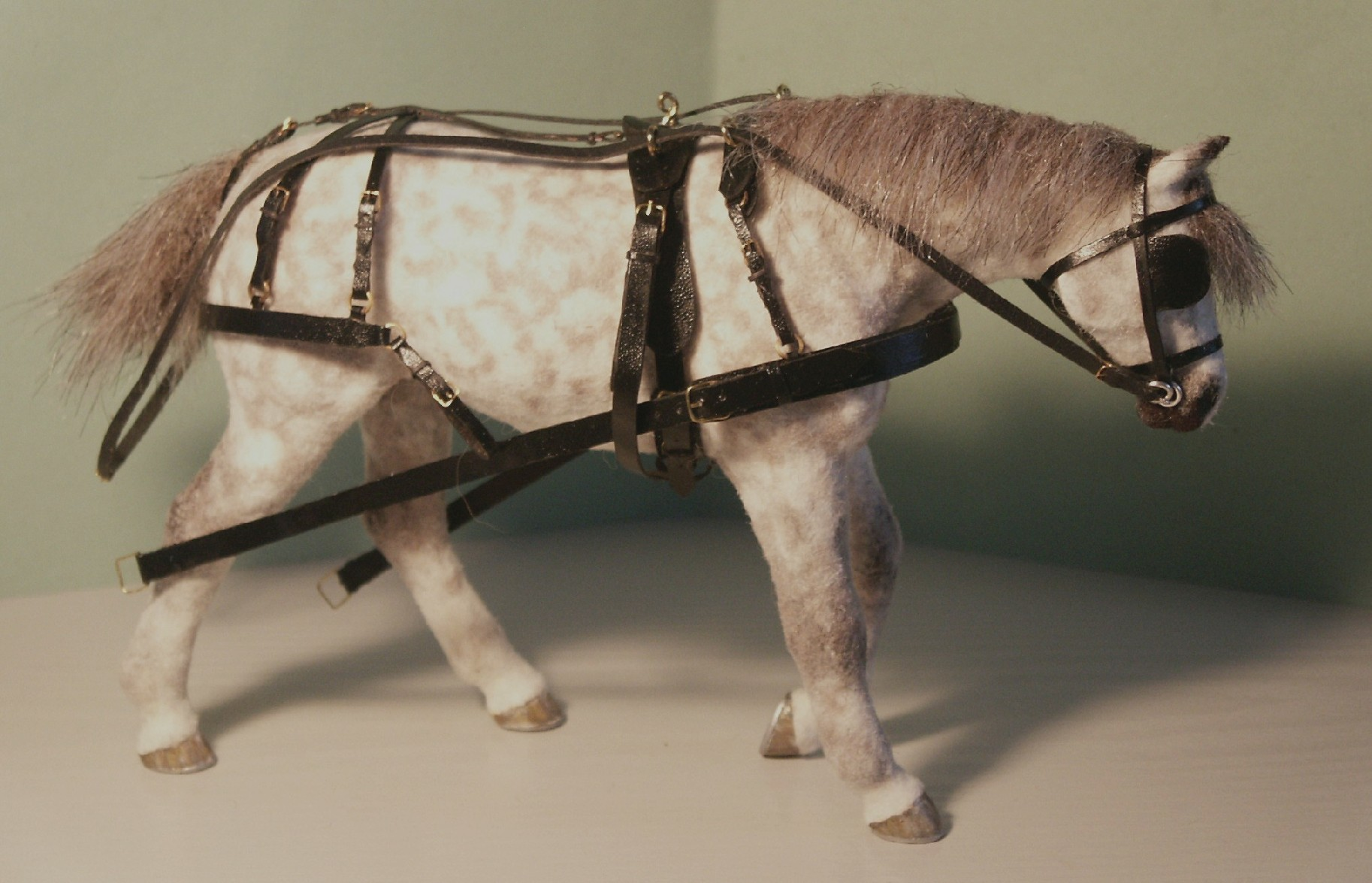 Carriage horse for the dolls house