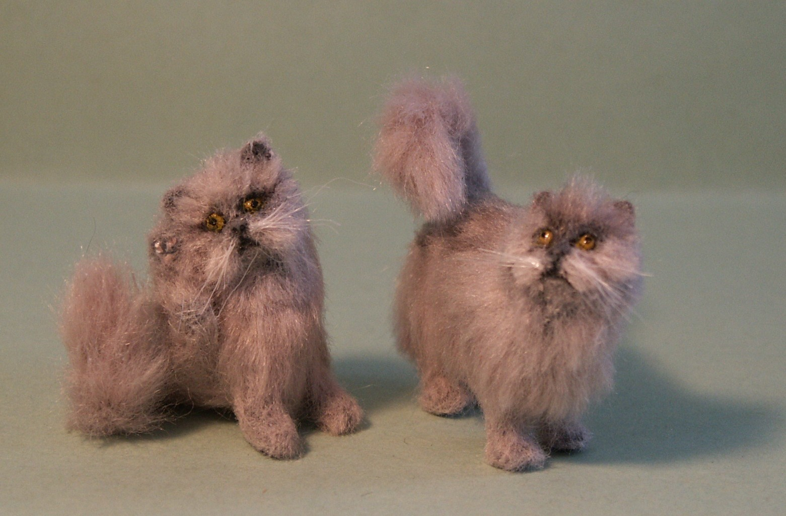 Dolls house Persian cats