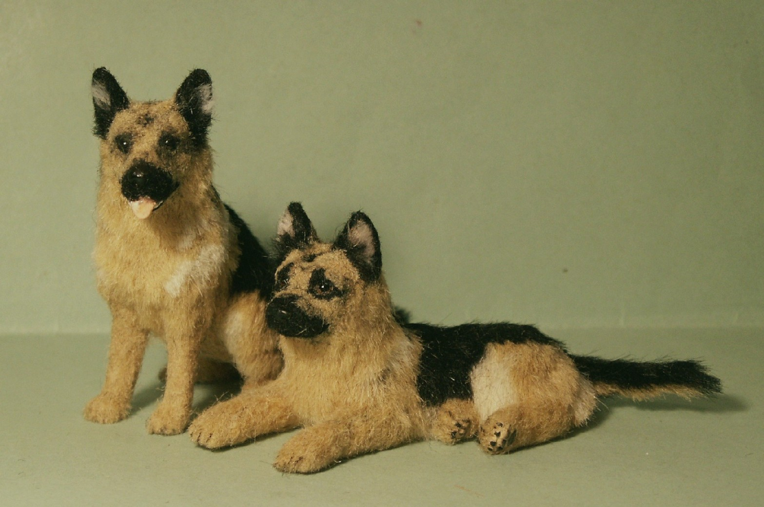 German Shepherd dogs for the dolls house