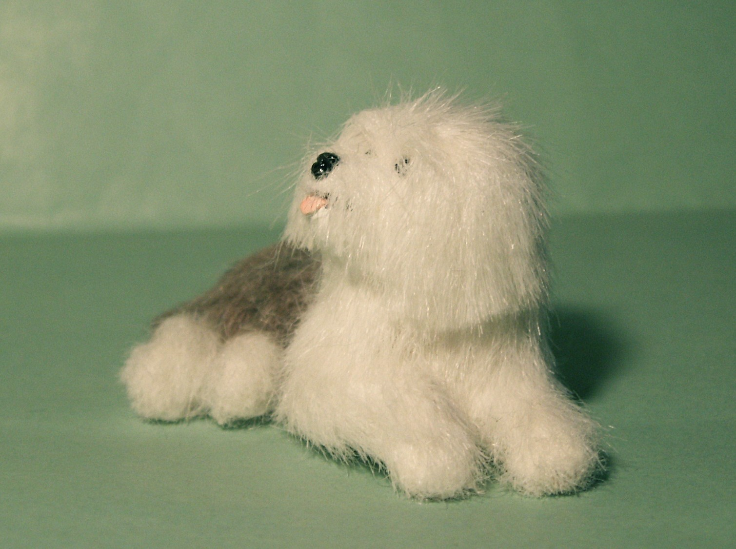 Old English Sheepdog for the dolls house