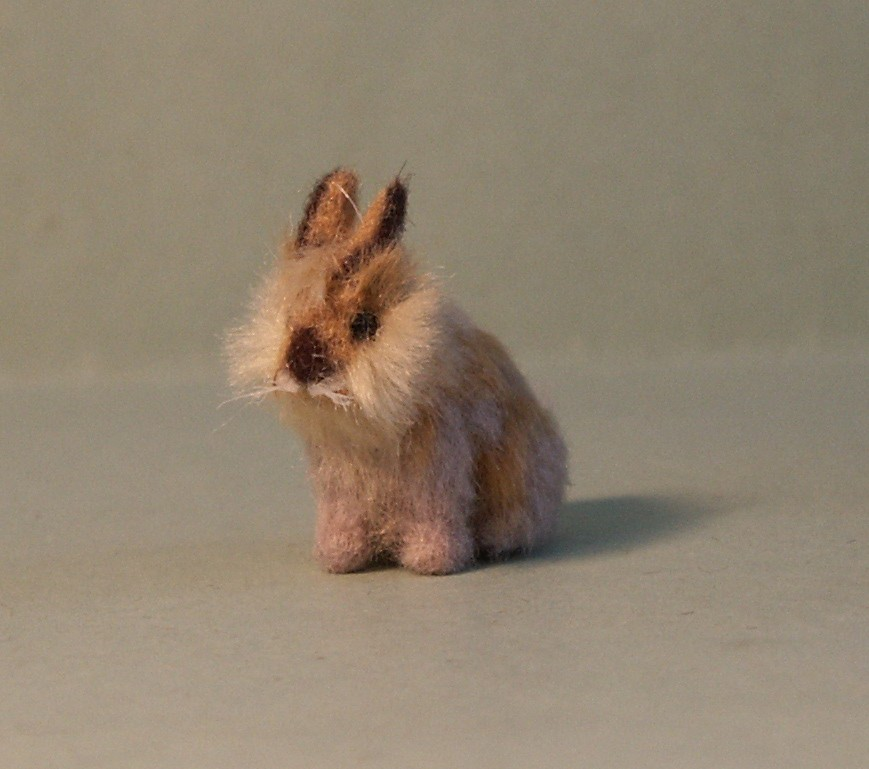 Lionhead rabbit for the dolls house